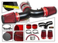 MATTE BLACK AIR INTAKE KIT + DUAL FILTER For 04-09 Durango 5.7L V8 HEMI
