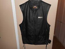 Men's Harley Davidson Black Leather Vest Medium NWOT