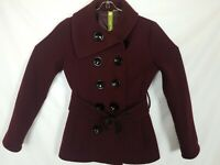 SOIA & KYO Wool Blend Tweed Trench Coat, Size XS XSmall