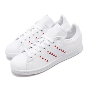 Adidas Originals Stan Smith Shoes Big Boys 6 Authentic Kids Heart White and Red