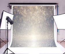 10x10FT Studio Backdrop Props Bokeh Silver Glitter Photography Background Vinyl