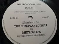 METROPOLIS * THE EUROPEAN SUITE EXCERPT ( DUBLIN ) * RARE 1985 PROMO EXCELLENT