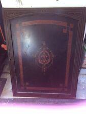 """Antique Wood Cabinet Door Marquetry Inlaid Classic Design 25 3/4"""" x 32"""" x 3/4"""""""