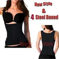 Women Body Shaper Latex Rubber Waist Trainer 4 Steel Boned Underbust Shapewear