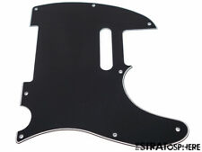 *NEW Black Telecaster PICKGUARD for Fender USA Standard Tele Guitar 3 Ply 8 Hole