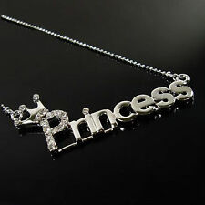 Silver Crystal Princess Necklace