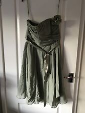 Coast Sz 16 Sage Green Corsage Dress Wedding Prom Occassion