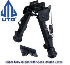 Utg Heavy Duty Quick Detach Bipod Fits Weaver Rails & Sling Swivel Studs