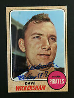 Dave Wickersham Pirates signed 1968 Topps baseball card #288 Auto Autograph 4