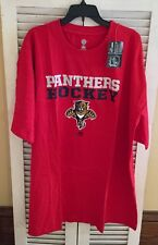 NWT NHL Florida Panthers Hockey Men's Size 4XL SS Screen Print T-Shirt Red