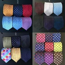 26 COLOR Classic Men's 100% Silk Tie Necktie Polka Dot JACQUARD 8cm Neck Ties