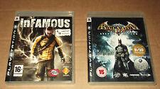 Batman: Arkham Asylum &  INFAMOUS for  PS3
