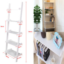 5 Tier Ladder Wall Shelf Storage/Display Unit Bookcase Flower Stand Bathroom
