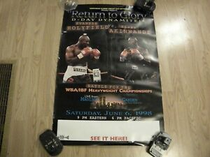 Rare Vintage Evander Holyfield/Henry Akinwande cancelled fight/boxing poster