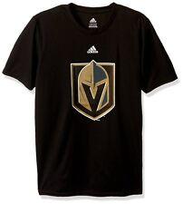 Las Vegas Golden Knights NHL Adidas Solid Black Team Logo T-Shirt S