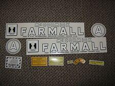 Farmall A Decal Set 1945-1948  IH McCormick  Farmall