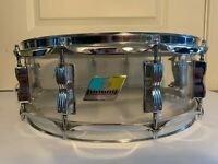 "1970's LUDWIG  14"" Clear Vistalite Snare Drum 10-Lug"