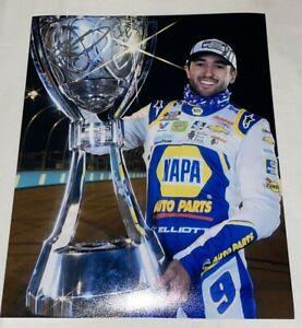 Chase Elliott 2020 CUP SERIES CHAMPION TROPHY 8x10 autographed photo +BONUS PIC
