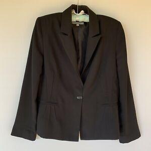 Liz Jordan Black Single Breasted Blazer Size 14 Office Formal Business Work