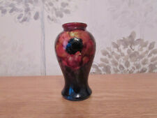 William Moorcroft Miniature Vase,Flambe Anemone Design.