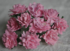 50 LIGHT PINK ASTER daisy Mulberry Paper flower miniature cardmaking
