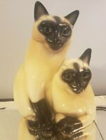 Vintage Claes Siamese Cats TV Lamp 1954 Read Description