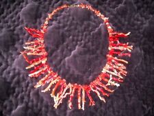 LIVERINO vintage coral necklace 80s collana girocollo corallo Torre del Greco NA