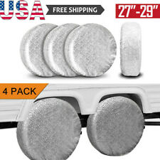"""Set of 4 Tire Covers Wheel RV Motorhome Trailer Car Sun Protector Fit 27"""" to 29"""""""