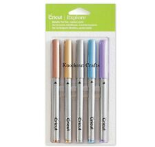 Cricut Explore METALLIC 5 Piece Pen Set Medium Point 1.0 ~ KNOCKOUT CRAFTS