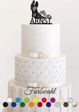 Tortenstecker Hochzeit personalisiert Cake Topper Acrylglas Figur WUNSCHNAME