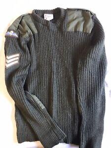 British Army Jumper Size Large 112cm Jersey Heavy Wool Round Neck