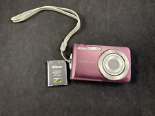 Nikon COOLPIX S210 8.0MP Digital Camera Plum TESTED WORKS No Charger FREE SHIP