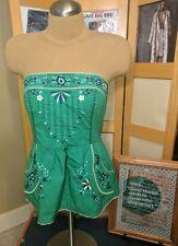 vanessa virginia anthropologie grassland top peplum green embroidered 10 pockets