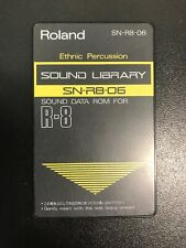 "Roland r8 Cartridge card ""ethnic percussion"""