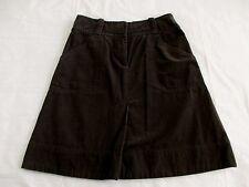 H & M Corduroy Skirt Women's Size 6 Dark Brown 100% Cotton EUC