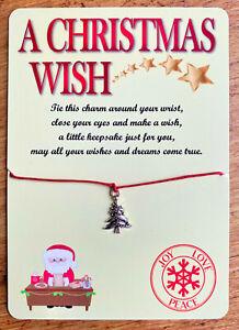 Christmas Wish Bracelets Christmas Eve Box Filler Stocking Filler Girls Gift