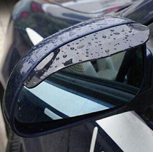 Two Piece Smoke Black Mirror Rain Visor Guard For Ford Models