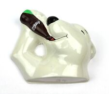 COCA-COLA COKE USA Figurine Eisbär tête Polar ours avec bouteille