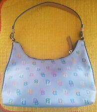 Dooney & Bourke Blue Leather Rainbow Icon 90s Mini Bag/Purse Multi Color Logo