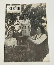 Vtg Home Front Magazine Bangor Pen Argyl Slate Belt Area Vol III No. 7 Oct 1944
