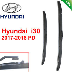 Pair Front Wndshield Windscreen Wiper blades for Hyundai i30  2017-2018 PD