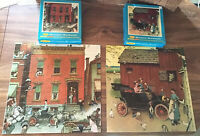 2 Vintage Puzzle Norman Rockwell The Street & Model T Ford 500 Pieces each