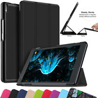 Leather Slim Smart Shell Stand Case Cover For Lenovo Tab 4 8 Plus, Tab 4 10 PLUS