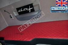 S'adapte DAF XF 106 Camion Eco Cuir Lit Housse-Rouge & Noir