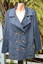 BeMe Dark BLUE DENIM JACKET NEW SIZE 16 RRP$79.99. Stylish Double Breast. COTTON
