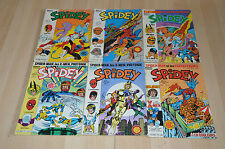 lot 6 Albums SPIDEY n°18 25 32 34 49 et 60 - Lug Marvel
