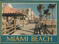 "*Florida Postcard-""The Boardwalk on Miami Beach"" (Postmarked 1986)"