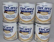 6 cans / 1 Case EleCare JR CHOCOLATE Case Formula junior FREE PRIORITY AGYHa