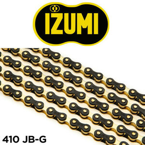 Izumi 410JB-G Black-Gold Bicycle Chain - Single Speed, BMX, Track 1/8""
