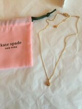 Kate Spade Ladybird Nature Walk gold pendant / necklace  Brand New with pouch/